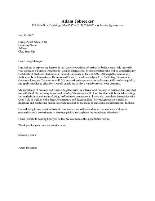 Sample Letter Intent Internal Job Posting Free Resume